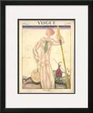 Vogue Cover - June 1922 Framed Giclee Print by Georges Lepape