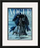 Vogue Cover - December 1948 Framed Giclee Print by Eugene Berman