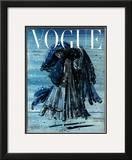 Vogue Cover - December 1948 Framed Giclee Print by Eugene Berman