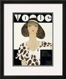 Vogue Cover - June 1930 Framed Giclee Print by Harriet Meserole