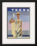 Vogue Cover - July 1928 Framed Giclee Print by Eduardo Garcia Benito