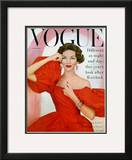 Vogue Cover - November 1956 Framed Giclee Print by Richard Rutledge