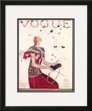 Vogue Cover - February 1924 Framed Giclee Print by Eduardo Garcia Benito
