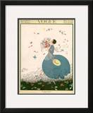 Vogue Cover - July 1916 Framed Giclee Print by Helen Dryden