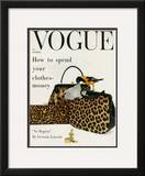 Vogue Cover - October 1958 Framed Giclee Print by Richard Rutledge