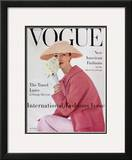 Vogue Cover - March 1956 Framed Giclee Print by Karen Radkai