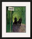 "Vogue Cover - April 1932 Framed Giclee Print by Carl ""Eric"" Erickson"