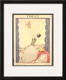 Vogue Cover - January 1922 Framed Giclee Print by Georges Lepape