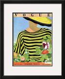 Vogue Cover - May 1934 Framed Giclee Print by Alix Zeilinger