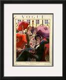 Vogue Cover - March 1924 Framed Giclee Print by Pierre Brissaud