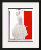 Vogue Cover - November 1922 Framed Giclee Print by Georges Lepape