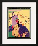 Vogue Cover - July 1914 Framed Giclee Print by Helen Dryden