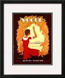 Vogue Cover - July 1930 Framed Giclee Print by Georges Lepape