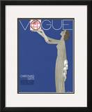 Vogue Cover - December 1930 Framed Giclee Print by Georges Lepape