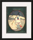 Vogue Cover - August 1917 Framed Giclee Print by Georges Lepape