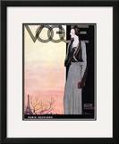 Vogue Cover - October 1930 Framed Giclee Print by Georges Lepape