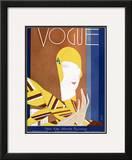 Vogue Cover - October 1928 Framed Giclee Print by Eduardo Garcia Benito
