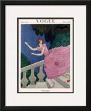 Vogue Cover - July 1921 Framed Giclee Print by Harriet Meserole