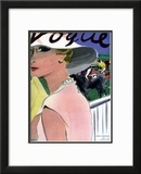 "Vogue Cover - April 1933 Framed Giclee Print by Carl ""Eric"" Erickson"