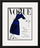 Vogue Cover - April 1947 Framed Giclee Print by  Dagmar