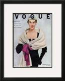 Vogue Cover - November 1952 Framed Giclee Print by Frances Mclaughlin-Gill