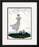 Vogue Cover - June 1933 Framed Giclee Print by Georges Lepape