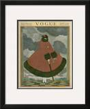 Vogue Cover - October 1917 Framed Giclee Print by Georges Lepape