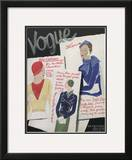 Vogue Cover - April 1932 Framed Giclee Print by William Bolin