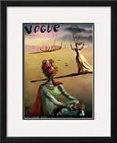 Vogue Cover - June 1939 Framed Giclee Print by Salvador Dali