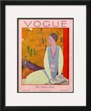 Vogue Cover - October 1925 Framed Giclee Print by Georges Lepape