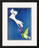 Vogue Cover - February 1937 Framed Giclee Print by Raymond de Lavererie