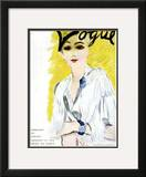 "Vogue Cover - January 1934 Framed Giclee Print by Carl ""Eric"" Erickson"