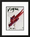 "Vogue Cover - April 1946 Framed Giclee Print by Carl ""Eric"" Erickson"