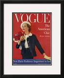 Vogue Cover - March 1957 Framed Giclee Print by Karen Radkai