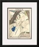 Vogue Cover - August 1921 Framed Giclee Print by Georges Lepape