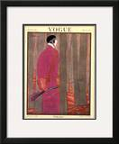 Vogue Cover - January 1923 Framed Giclee Print by Georges Lepape