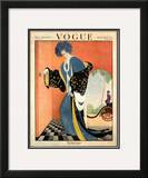 Vogue Cover - August 1919 Framed Giclee Print by George Wolfe Plank