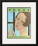 Vogue Cover - February 1930 Framed Giclee Print by Georges Lepape