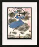Vogue Cover - March 1933 Framed Giclee Print by Georges Lepape
