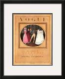 Vogue Cover - February 1923 Framed Giclee Print by Pierre Brissaud