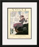 Vogue Cover - June 1923 Framed Giclee Print by Pierre Brissaud