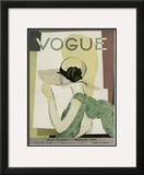 Vogue Cover - May 1928 Framed Giclee Print by Georges Lepape