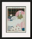 Vogue Cover - March 1917 Framed Giclee Print by Georges Lepape