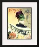 "Vogue Cover - September 1938 Framed Giclee Print by Carl ""Eric"" Erickson"