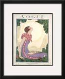 Vogue Cover - June 1925 Framed Giclee Print by Georges Lepape