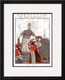 Vogue Cover - January 1925 Framed Giclee Print by Georges Lepape