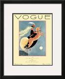 Vogue Cover - February 1927 Framed Giclee Print by George Wolfe Plank