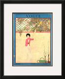 Vogue Cover - July 1918 Framed Giclee Print by Georges Lepape