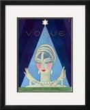 Vogue Cover - December 1927 Framed Giclee Print by Eduardo Garcia Benito