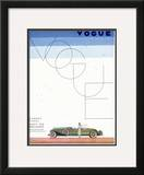 Vogue Cover - June 1930 Framed Giclee Print by Georges Lepape
